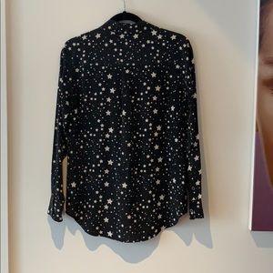 Equipment Tops - Equipment x Kate Moss Star Print Shirt S